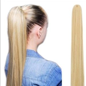 BRAND NEW BLONDE LONG JAW CLIP PONYTAIL EXTENSIONS